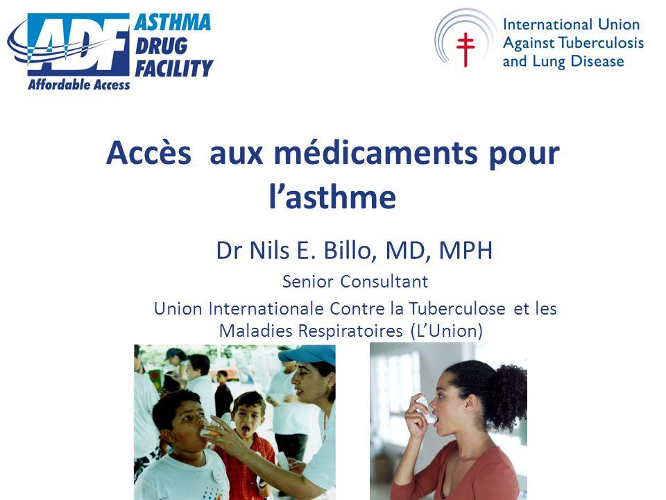 Accès aux médicaments pour lasthme Dr Nils E.