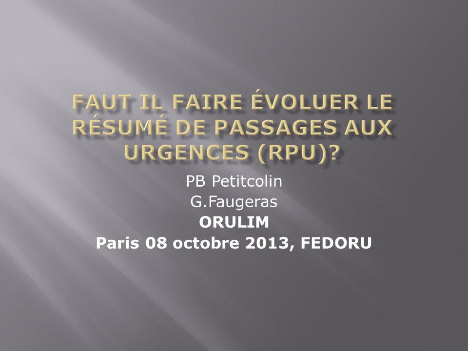 PB Petitcolin G.Faugeras ORULIM Paris 08 octobre 2013, FEDORU