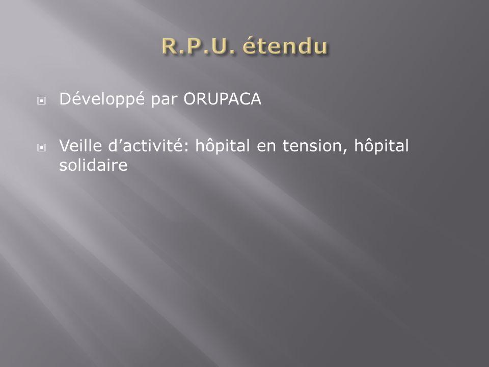 Développé par ORUPACA Veille dactivité: hôpital en tension, hôpital solidaire