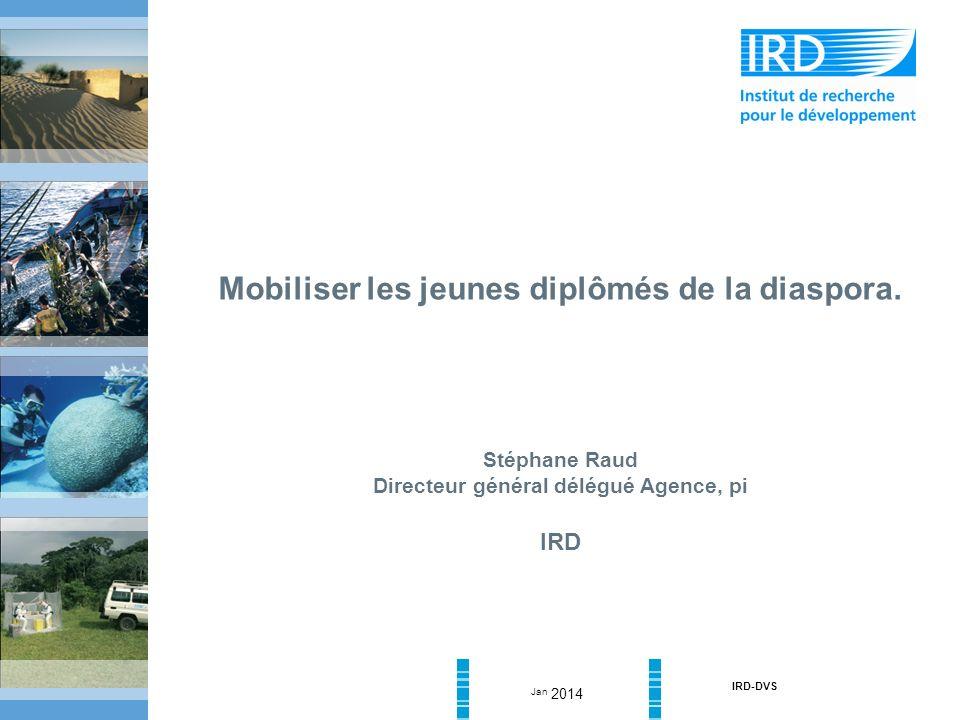 Jan 2014 IRD-DVS Mobiliser les jeunes diplômés de la diaspora.