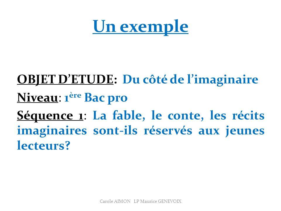 Evaluation Carole AIMON LP Maurice GENEVOIX