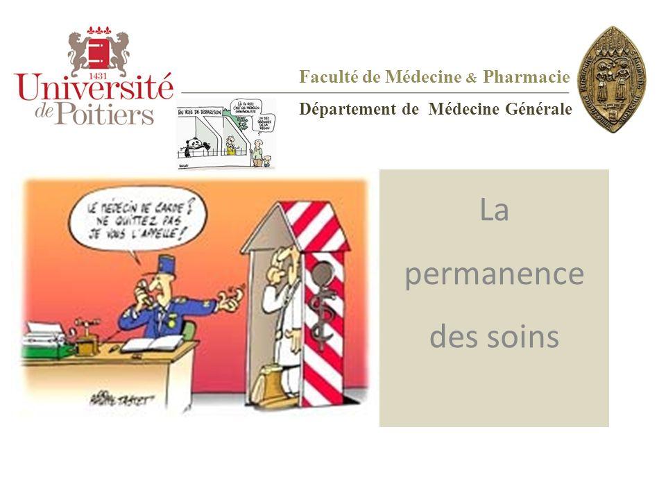 Faculté de Médecine & Pharmacie Département de Médecine Générale La permanence des soins