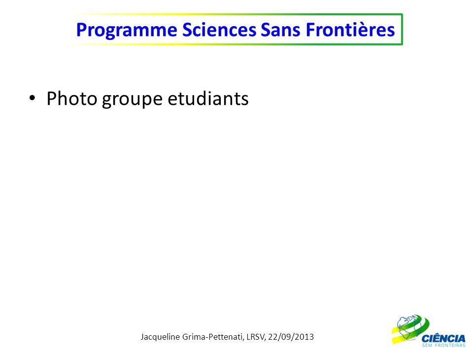 Jacqueline Grima-Pettenati, LRSV, 22/09/2013 Programme Sciences Sans Frontières Répartition des 17 étudiants SSF inscrits à lUPS pour année Universitaire 2013/2014 5 1 3