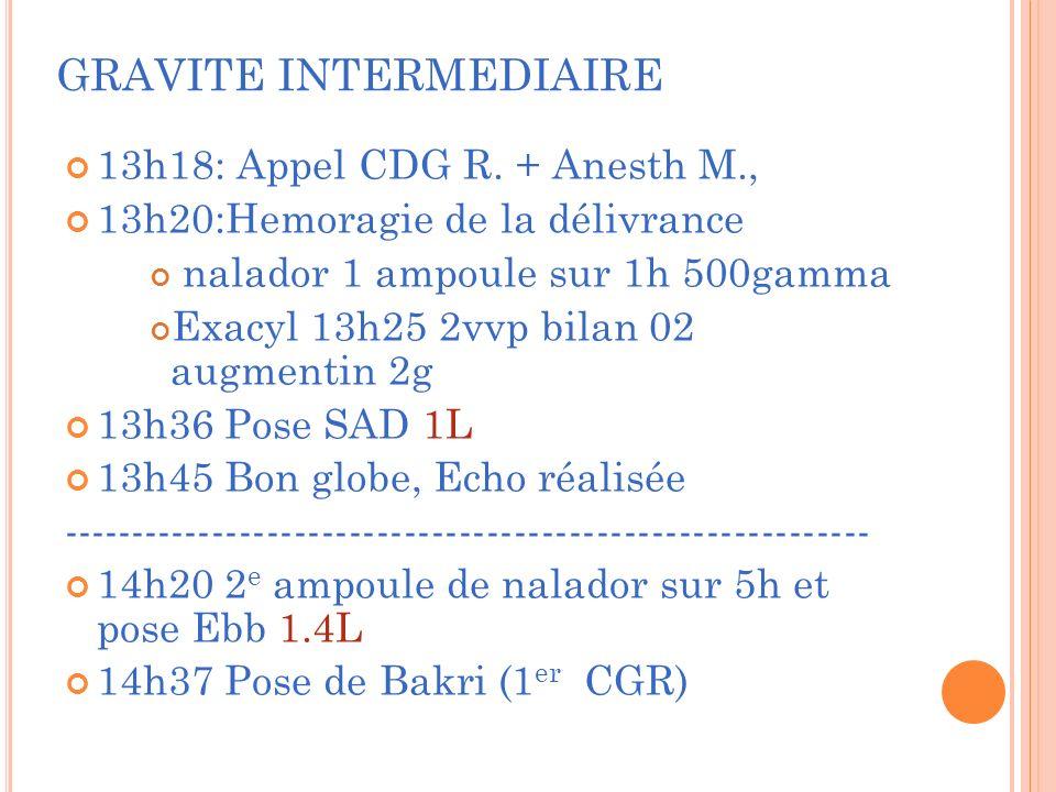 GRAVITE INTERMEDIAIRE 13h18: Appel CDG R.