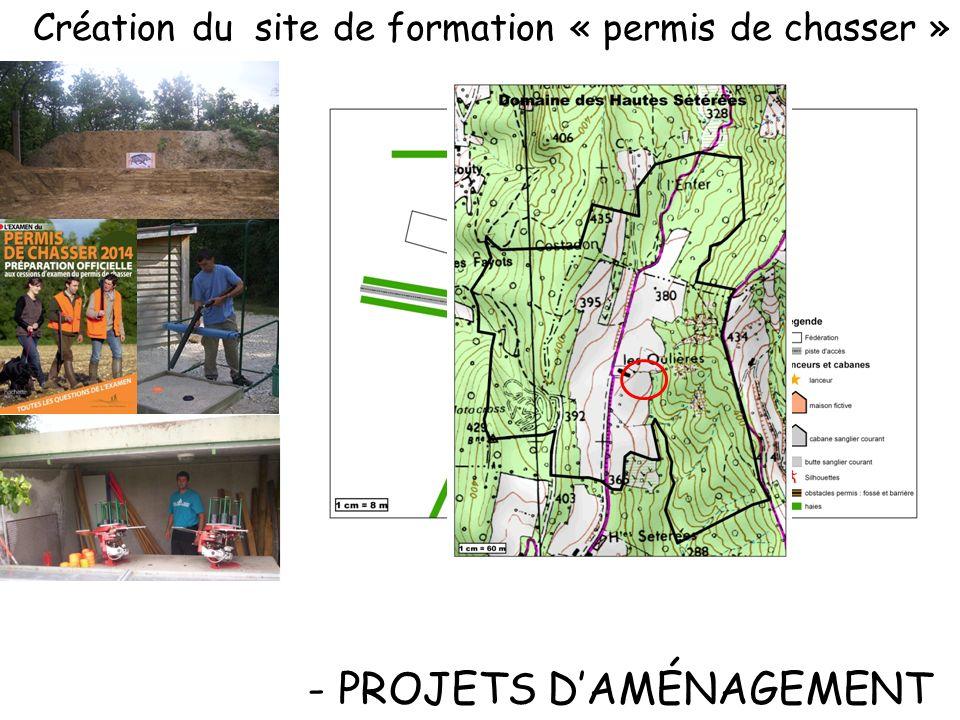 -Création de garennes artificielles ) - PROJETS DAMÉNAGEMENT -Palettes et souches sur site -13 garennes artificielles 2012 - 2014