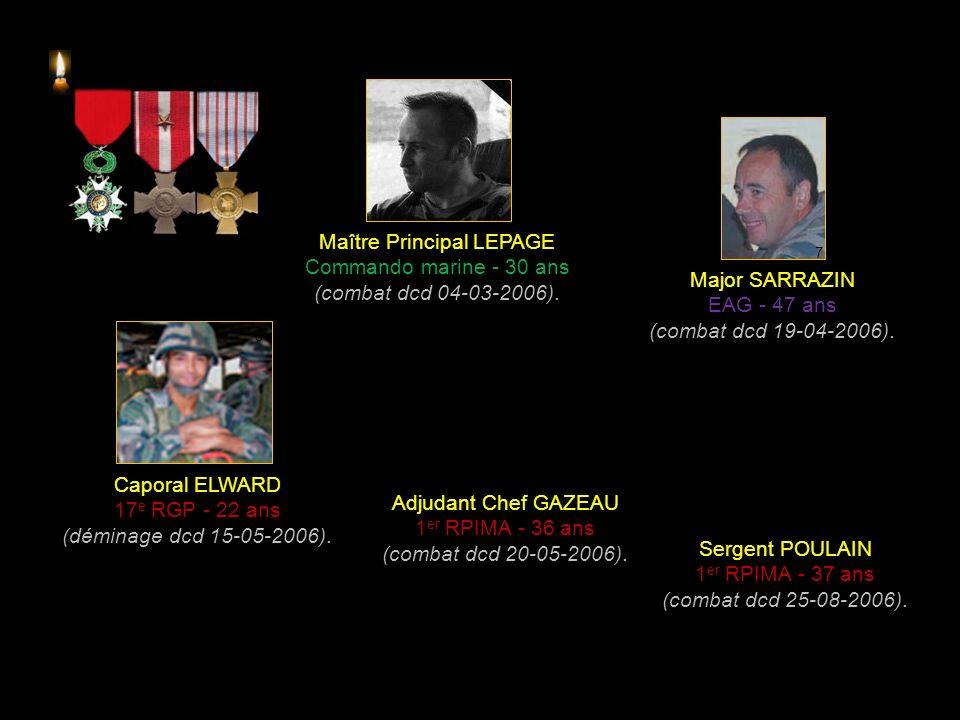 Caporal Chef YAGGI 1 er RPIMA - 20 ans (accident dcd 29-08-2004).