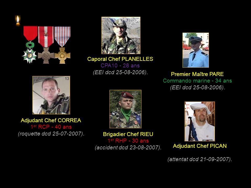 Caporal ELWARD 17 e RGP - 22 ans (déminage dcd 15-05-2006).