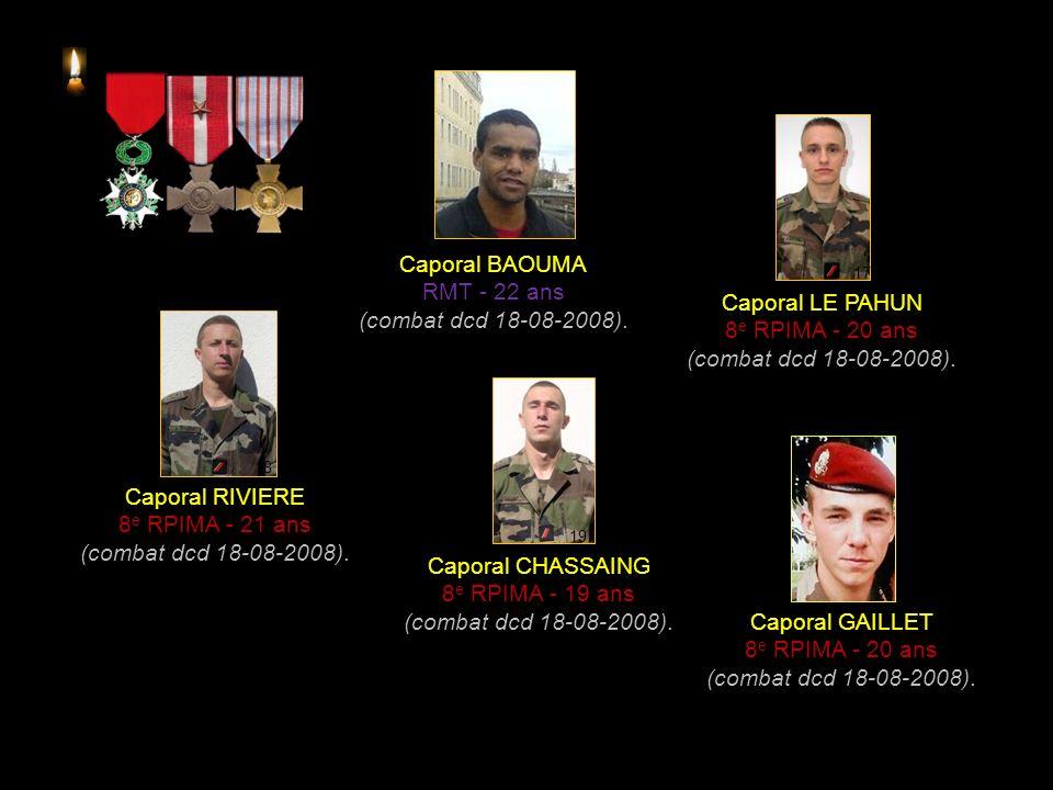 Premier Maître PARE Commando marine - 34 ans (EEI dcd 25-08-2006).