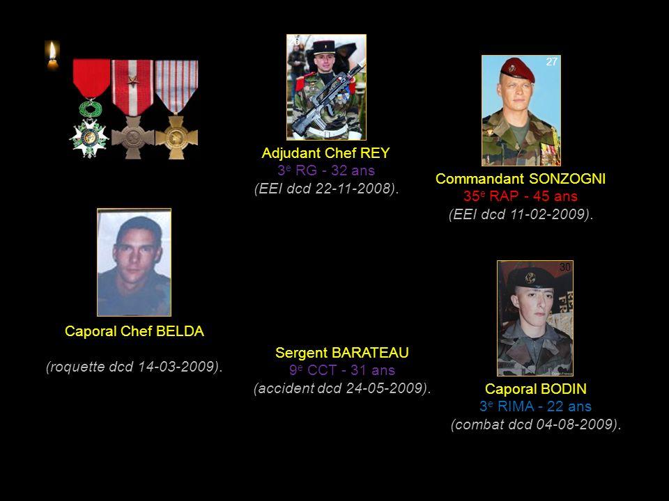 Sergent BUIL 8 e RPIMA - 31 ans (combat dcd 18-08-2008).