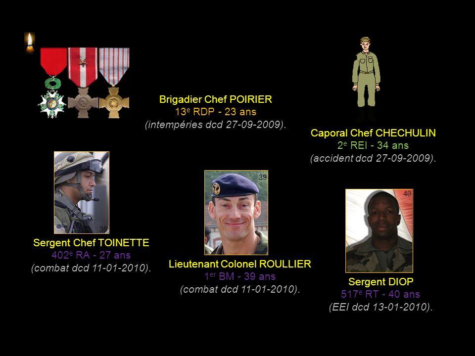 Sergent ROUSSELLE 3 e RIMA - 30 ans (EEI dcd 04-09-2009).
