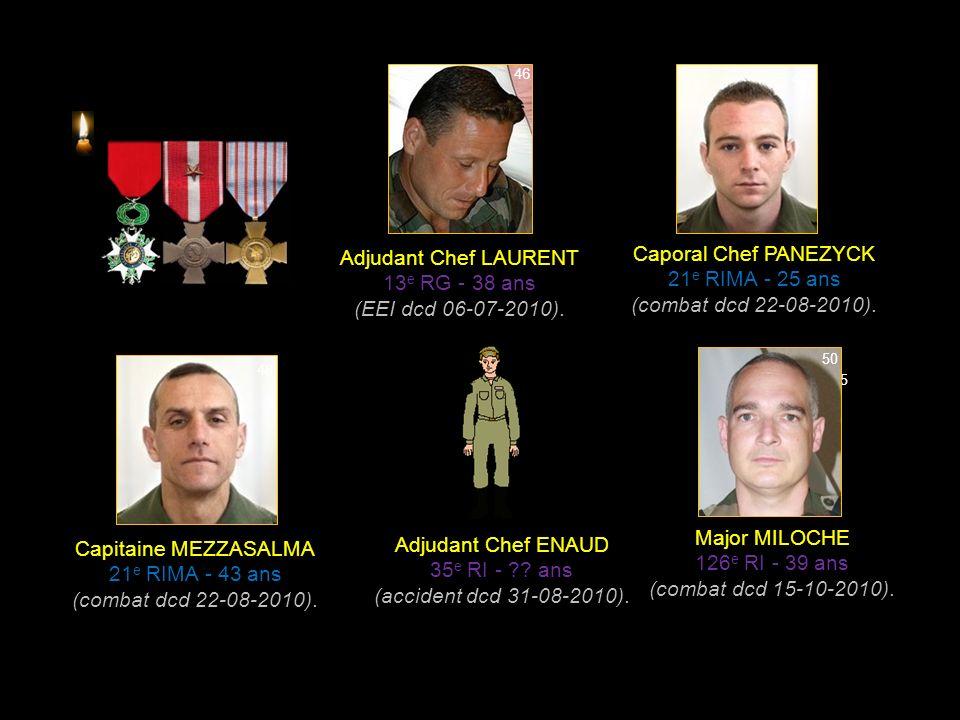 Caporal HUTNIK 2 e REP - 23 ans (combat dcd 08-04-2010).