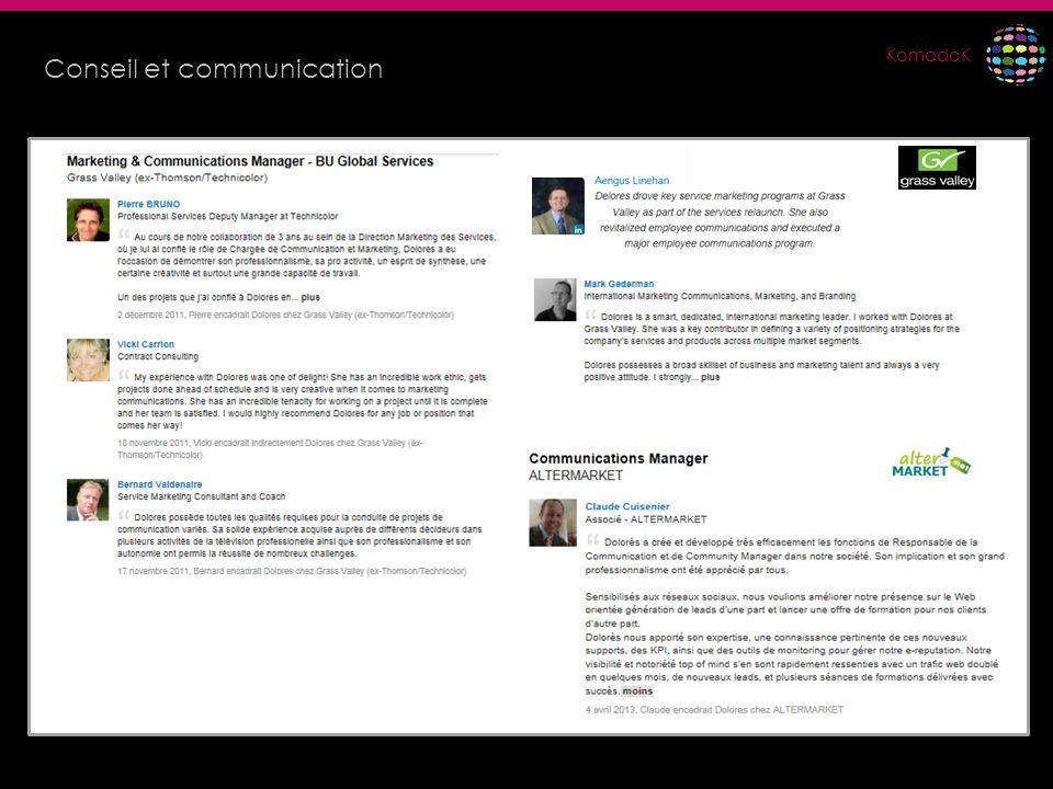 KomadoK Conseil et communication