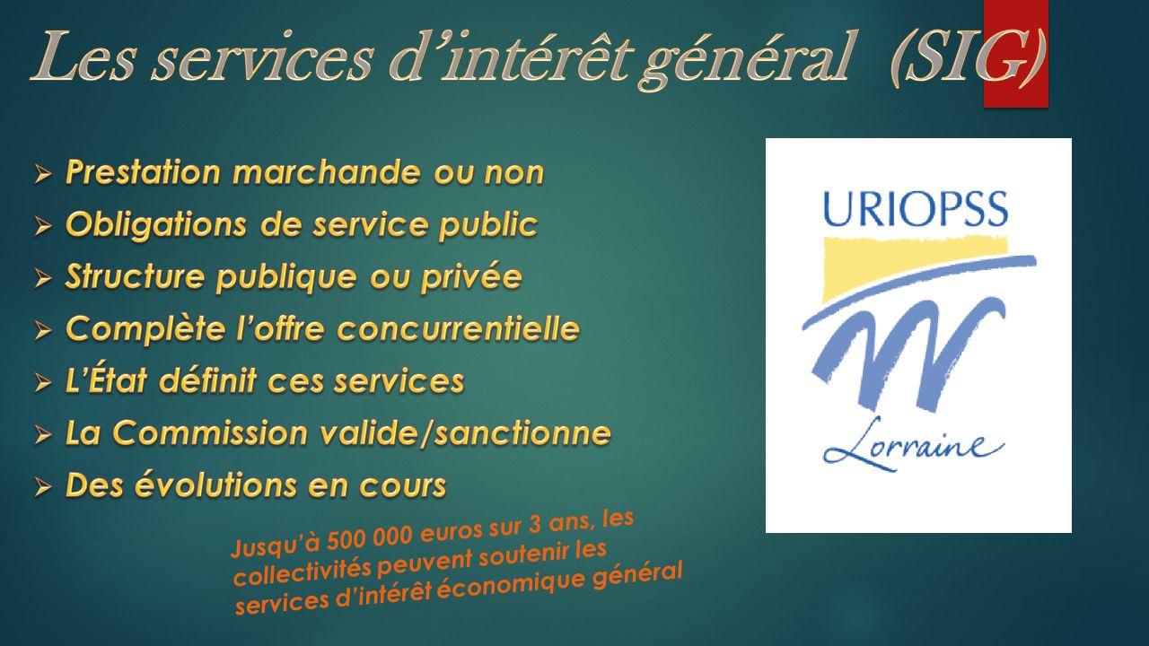 Jusquà 500 000 euros sur 3 ans, les collectivités peuvent soutenir les services dintérêt économique général