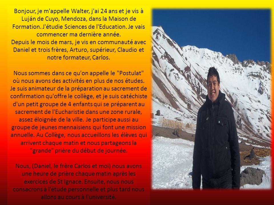 Bonjour, je m appelle Walter, j ai 24 ans et je vis à Luján de Cuyo, Mendoza, dans la Maison de Formation.