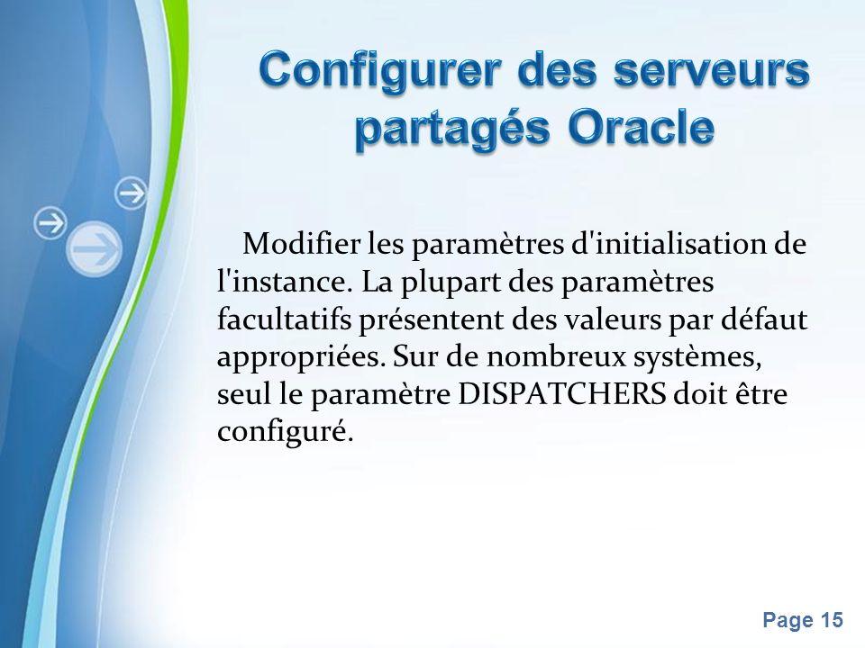 Pour plus de modèles : Modèles Powerpoint PPT gratuitsModèles Powerpoint PPT gratuits Page 15 Modifier les paramètres d initialisation de l instance.