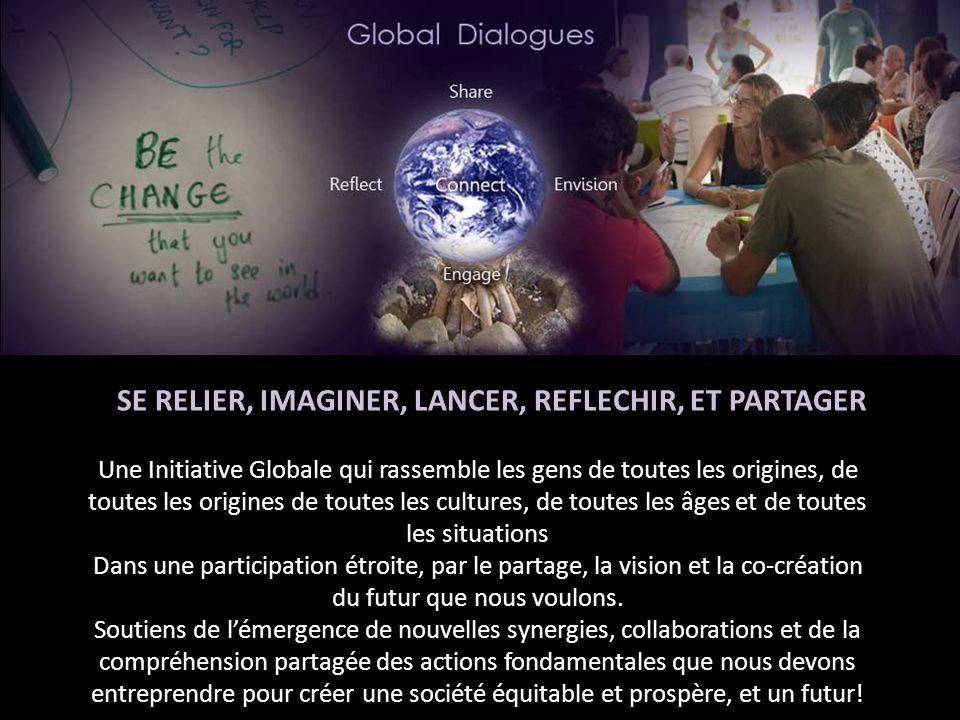 Une Initiative Globale qui rassemble les gens de toutes les origines, de toutes les origines de toutes les cultures, de toutes les âges et de toutes les situations Dans une participation étroite, par le partage, la vision et la co-création du futur que nous voulons.