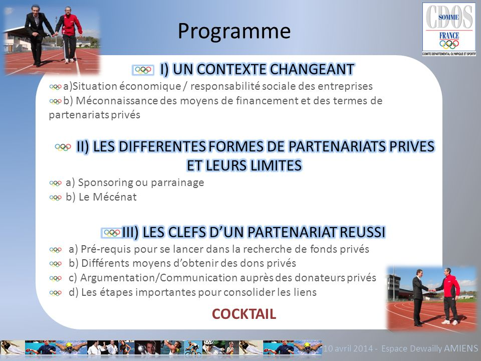 Programme 10 avril 2014 - Espace Dewailly AMIENS