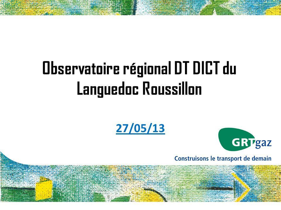 Observatoire régional DT DICT du Languedoc Roussillon 27/05/13