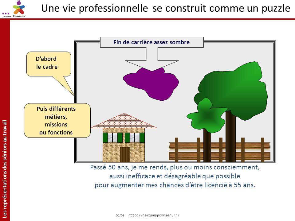 Les représentations des séniors au travail Site: http://jacquespommier.fr/ Dabord le cadre Passé 50 ans, je me rends, plus ou moins consciemment, auss