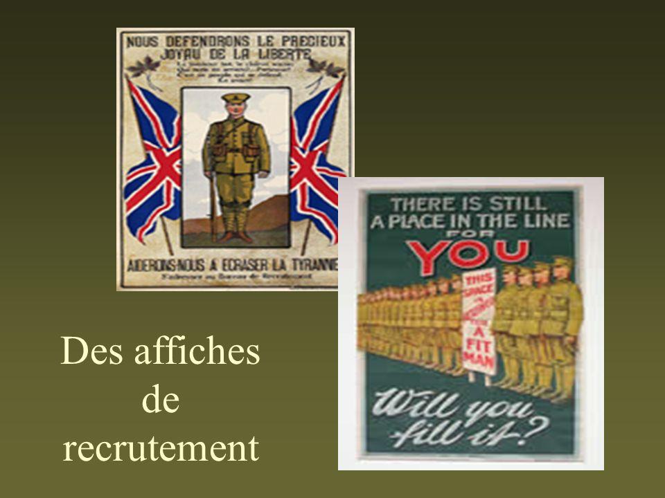 Des affiches de recrutement
