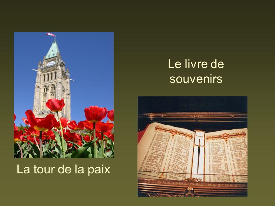 La tour de la paix Le livre de souvenirs