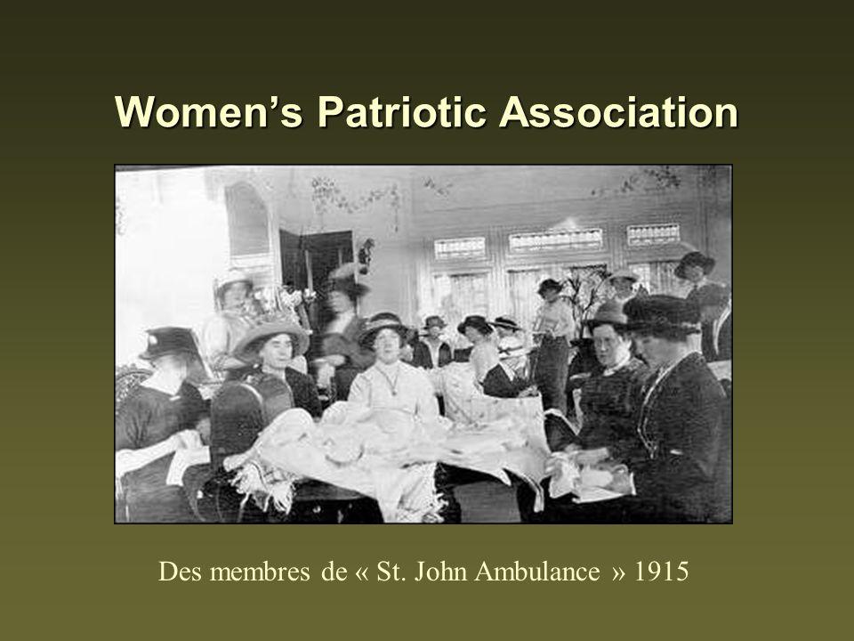 Womens Patriotic Association Des membres de « St. John Ambulance » 1915