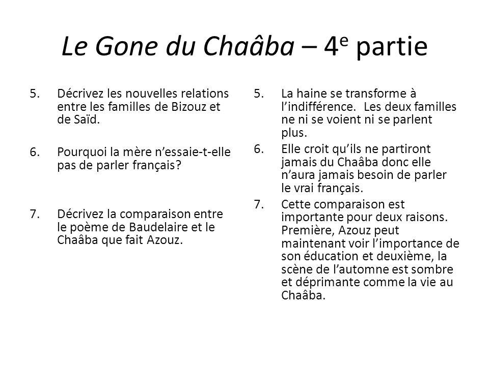 Le Gone du Chaâba – 4 e partie 5.Décrivez les nouvelles relations entre les familles de Bizouz et de Saïd. 6.Pourquoi la mère nessaie-t-elle pas de pa