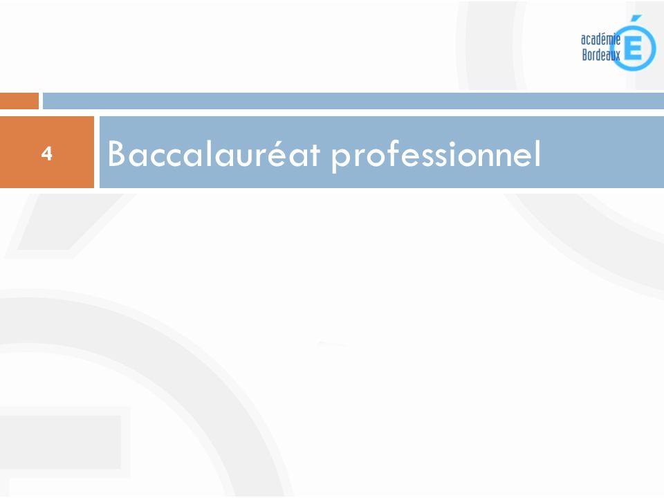 Diplômes intermédiaires 5 Les élèves qui choisissent de préparer un bac pro ont la possibilité dobtenir, selon la spécialité quils ont choisie, un BEP ou un CAP.