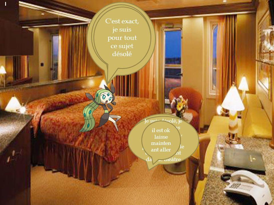 Voici sa chambre Ici, il est