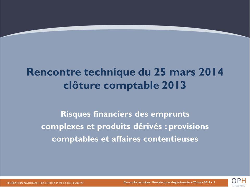 Conséquences comptables pour les OPH en comptabilité de commerce en 2013 Ce traitement est différent de celui sur les SWAP – Instrument de couverture, en attente des nouvelles règles de lANC, selon le PCG (art.