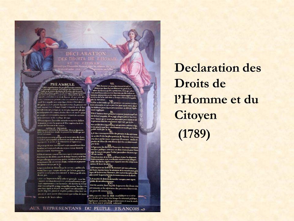 Declaration des Droits de lHomme et du Citoyen (1789)