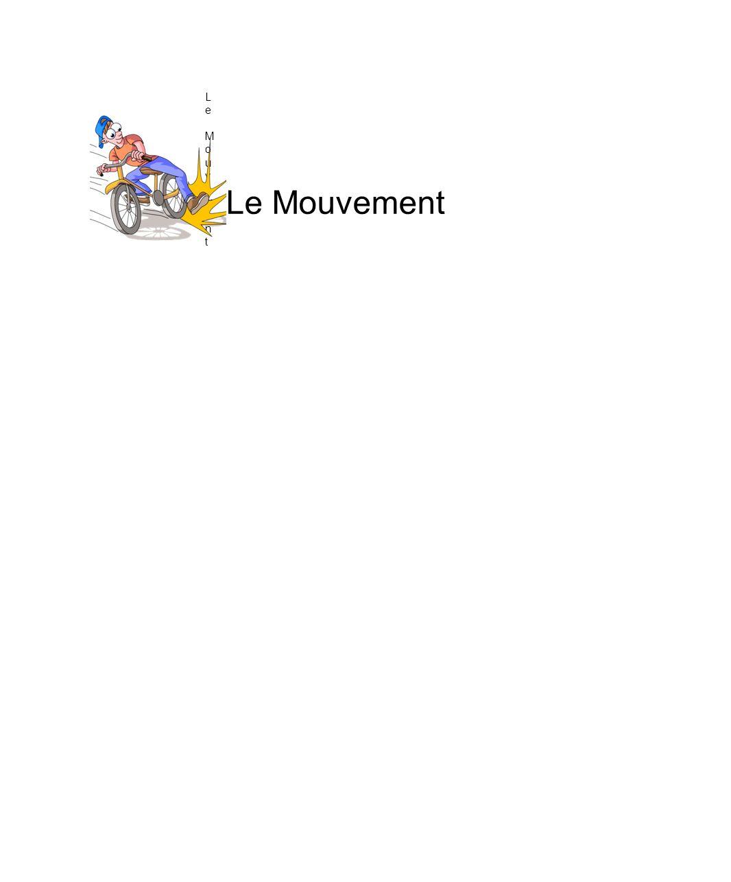 Introduction Ta vie dépend de ta capacité à observer et à analyser le mouvement.