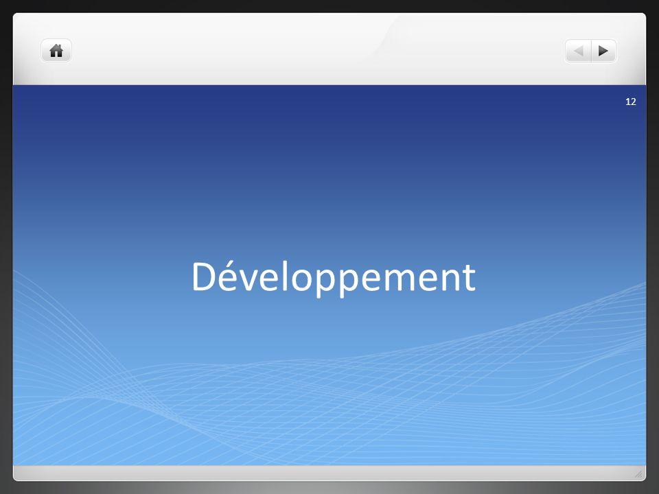 Développement 12