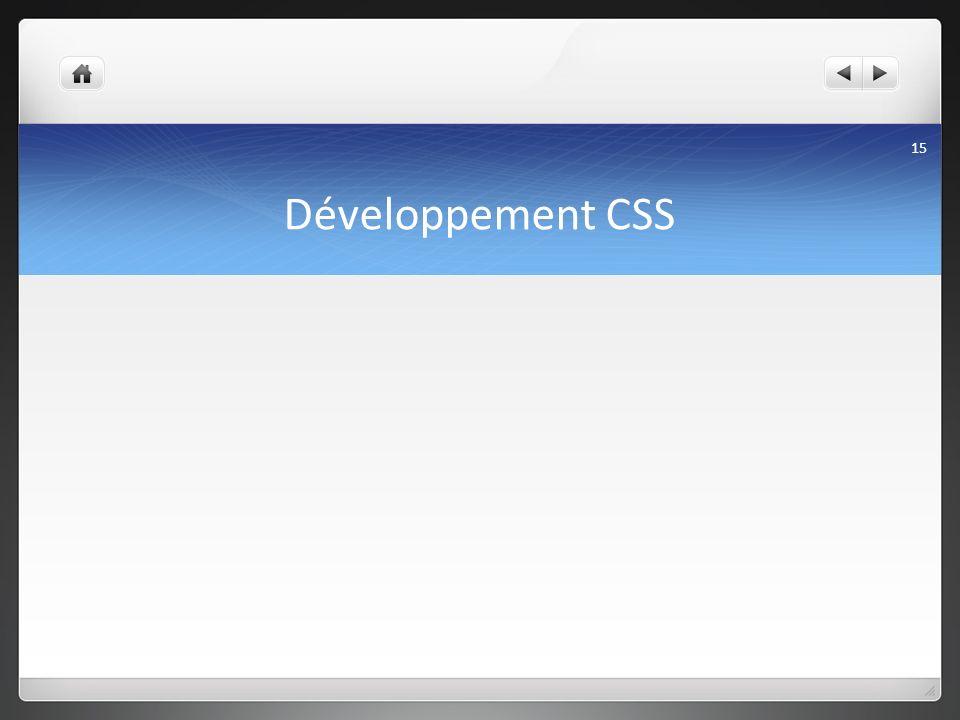 Développement CSS 15