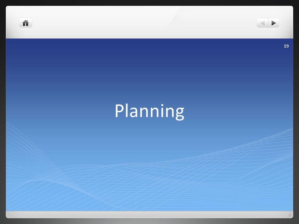 Planning 19