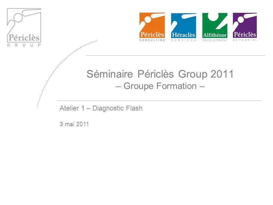 Séminaire Périclès Group 2011 – Groupe Formation – Atelier 1 – Diagnostic Flash 3 mai 2011
