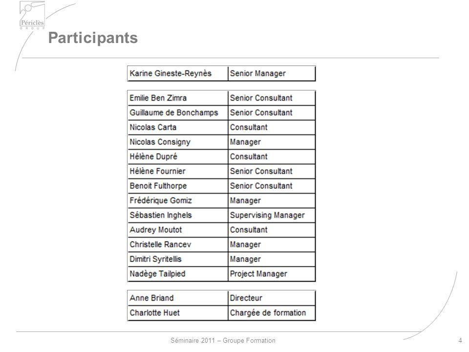 Séminaire 2011 – Groupe Formation Participants 4