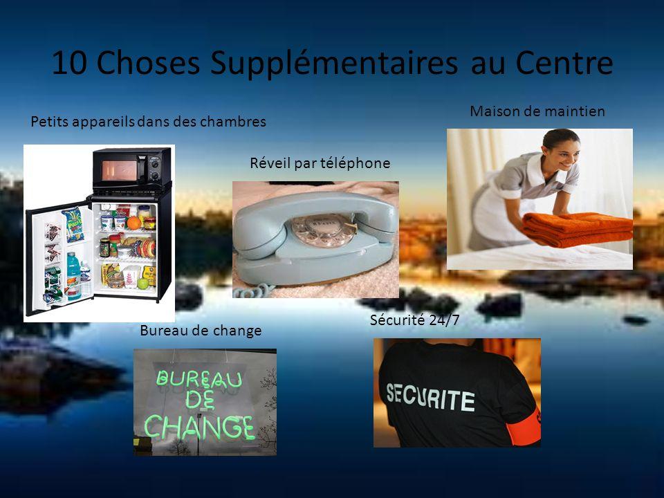 10 Choses Supplémentaires au Centre Petits appareils dans des chambres Réveil par téléphone Maison de maintien Bureau de change Sécurité 24/7