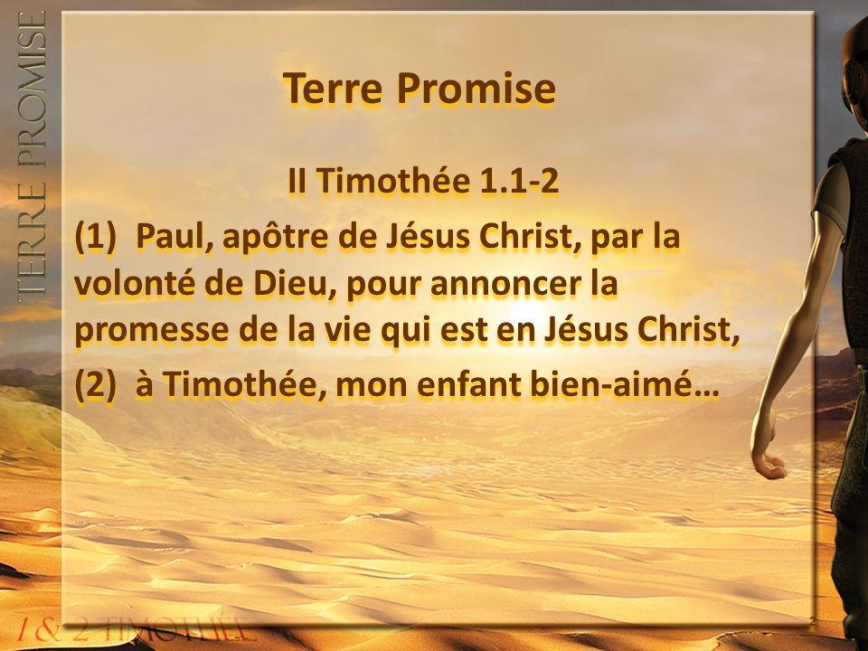 1.Lappel dun Père II Timothée 4.9-14 (12) J ai envoyé Tychique à Éphèse.