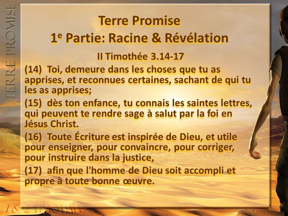 1.Lappel dun Père II Timothée 1.3 - 4 (3) Je rends grâce à Dieu, pour toi, mon fils bien-aimé.