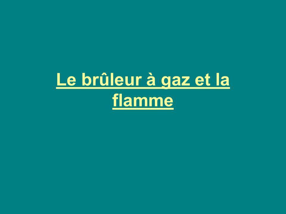 Le brûleur à gaz et la flamme