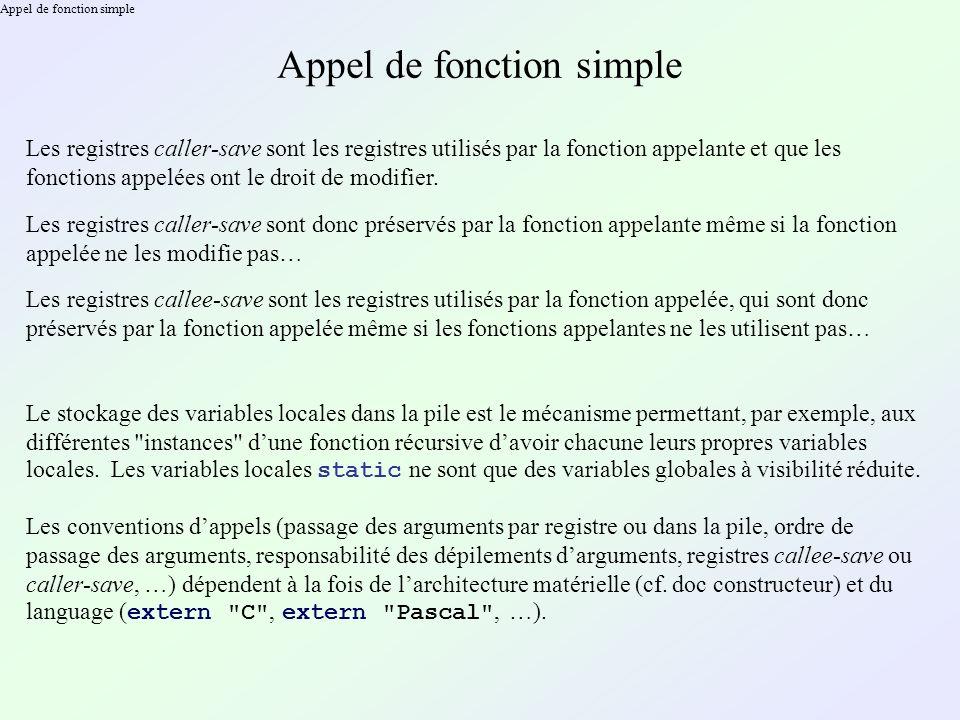 Appel de méthode non virtuelle Le mécanisme dappel de méthodes static est strictement identique à celui des appels de fonctions.