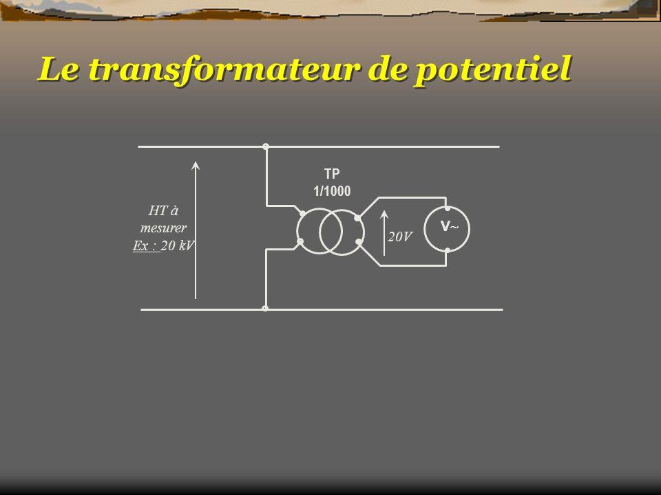Le transformateur de potentiel TP 1/1000 HT à mesurer Ex : 20 kV 20V V