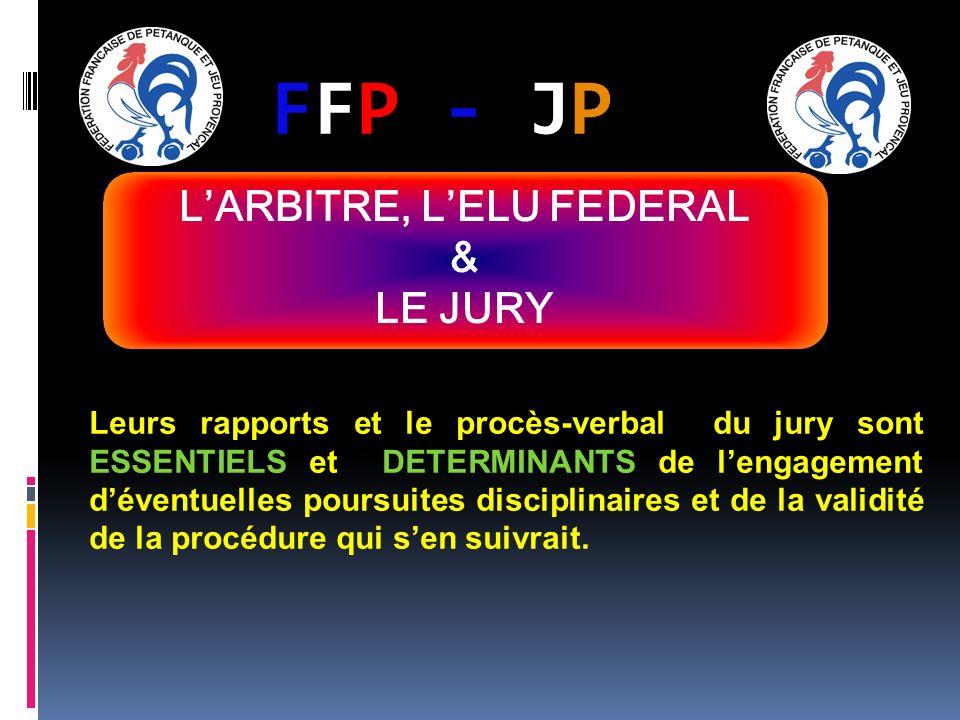 FFP - JPFFP - JP Leurs rapports et le procès-verbal du jury sont ESSENTIELS et DETERMINANTS de lengagement déventuelles poursuites disciplinaires et d