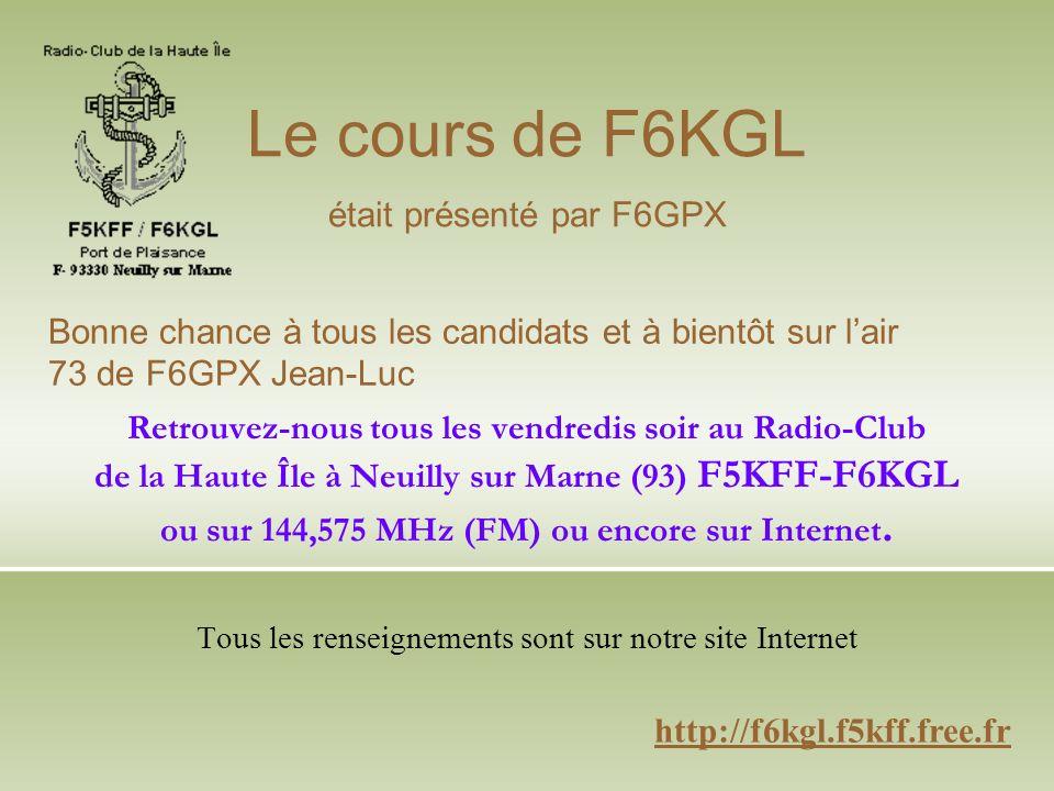 Retrouvez-nous tous les vendredis soir au Radio-Club de la Haute Île à Neuilly sur Marne (93) F5KFF-F6KGL ou sur 144,575 MHz (FM) ou encore sur Internet.