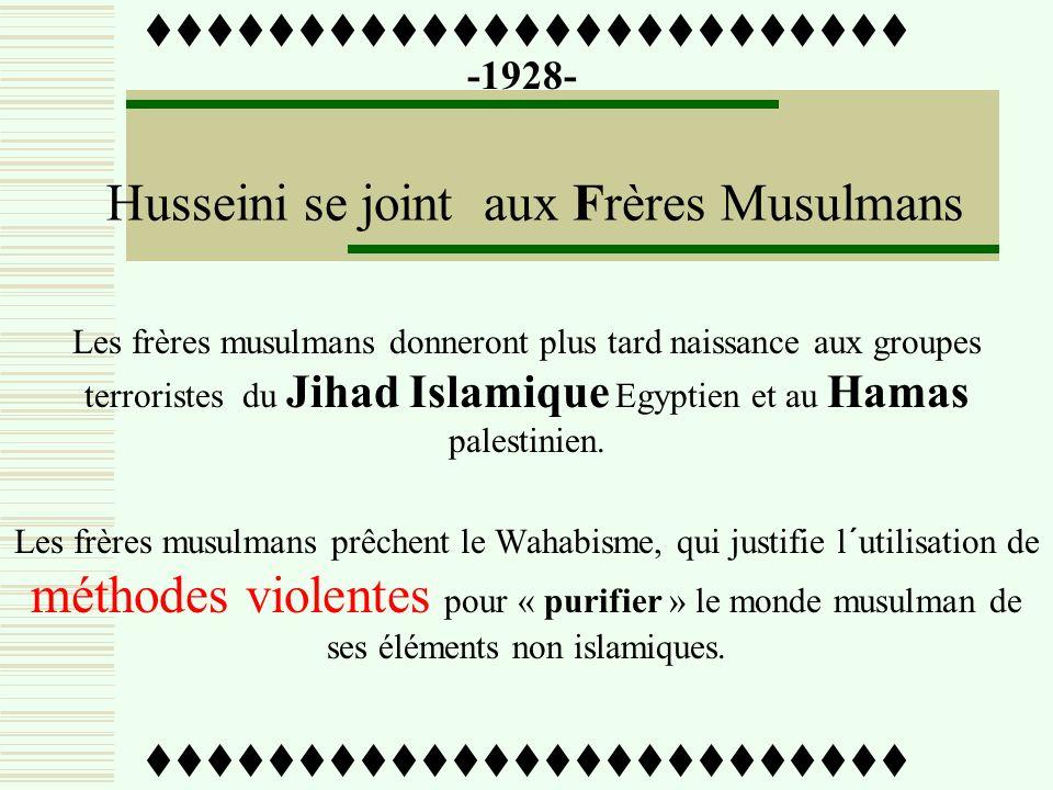 -1922- Amin Al Husseini est nommé Chef du Conseil Suprême Musulman (1922-1937) ttttttttttttttttttttttttt Par les autorités mandataires britanniques