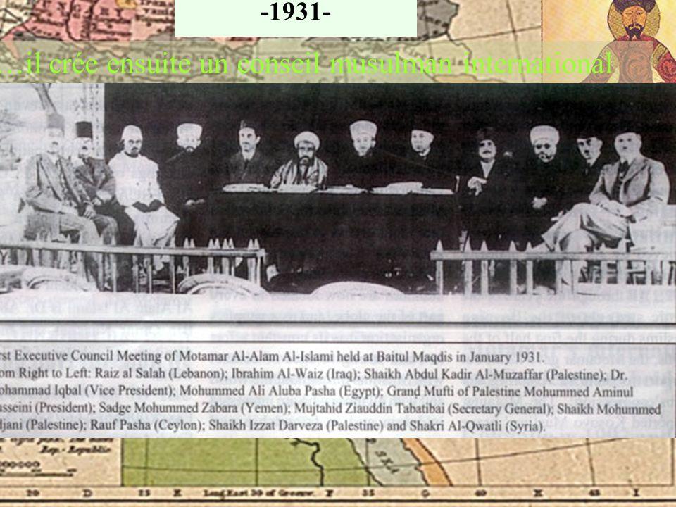 Husseini se joint aux Frères Musulmans Les frères musulmans donneront plus tard naissance aux groupes terroristes du Jihad Islamique Egyptien et au Ha