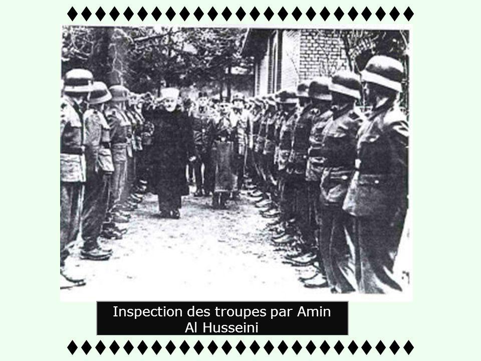 Génocide des Chrétiens Serbes Amin Al Husseini suit personnellement loffensive Nazie en Bosnie. 25 Avril, Amin Al Hussseini rencontre les croates cath