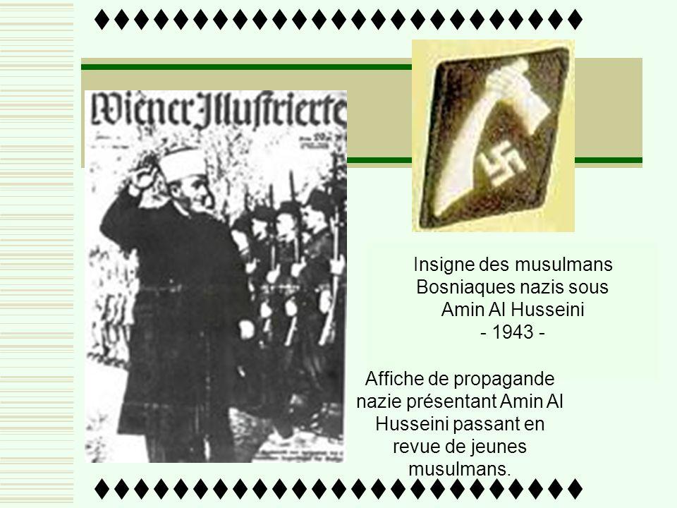 Amin Al Husseini est nommé Premier Ministre du Gouvernement pan-arabe par le régime Nazi. Ses quartiers Généraux restent à Berlin. Premier Ministre du