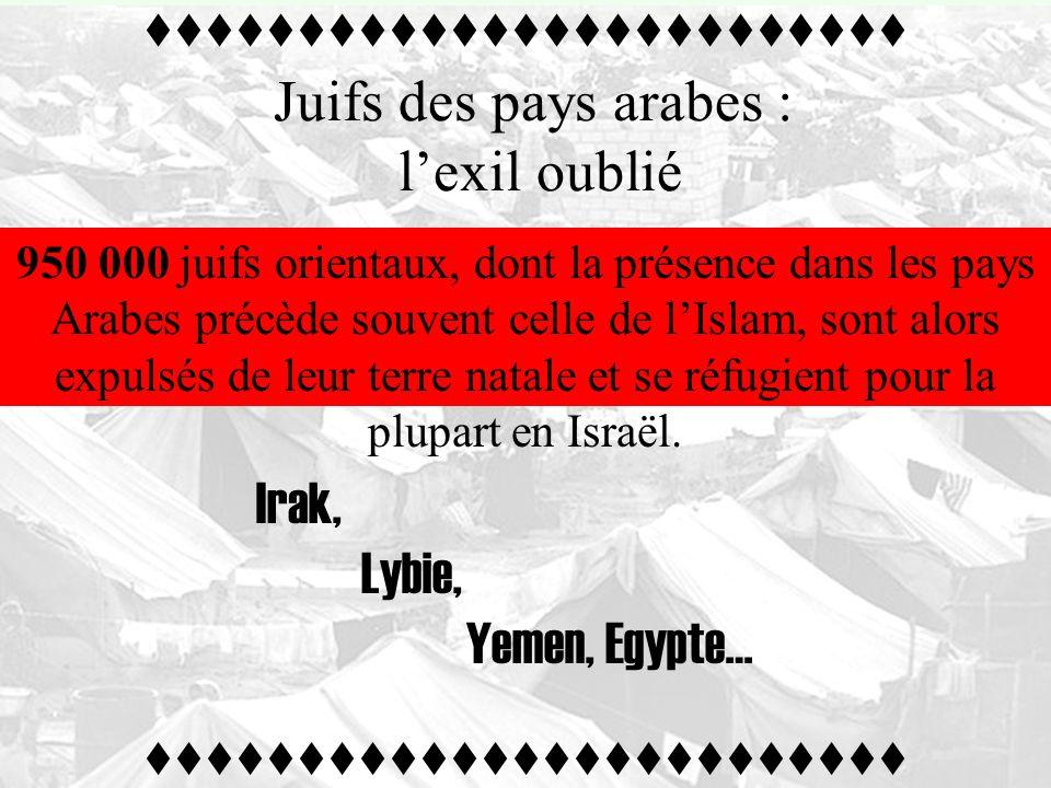 -1962- Amin Al –Husseini devient président du Congrès Islamique Mondial. « Aucun juif en terre arabe » Les fondamentalistes islamistes réalisent lidéa